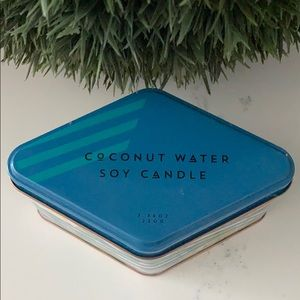 Anthropology NEW Cabana Striped Candle Coconut H2O